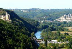 Dordogne Périgord: kastelen Château de Beynac en Chateau de Castelnaud