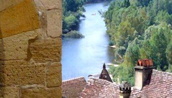 Uitzicht op de Dordogne vanuit Château Beynac.