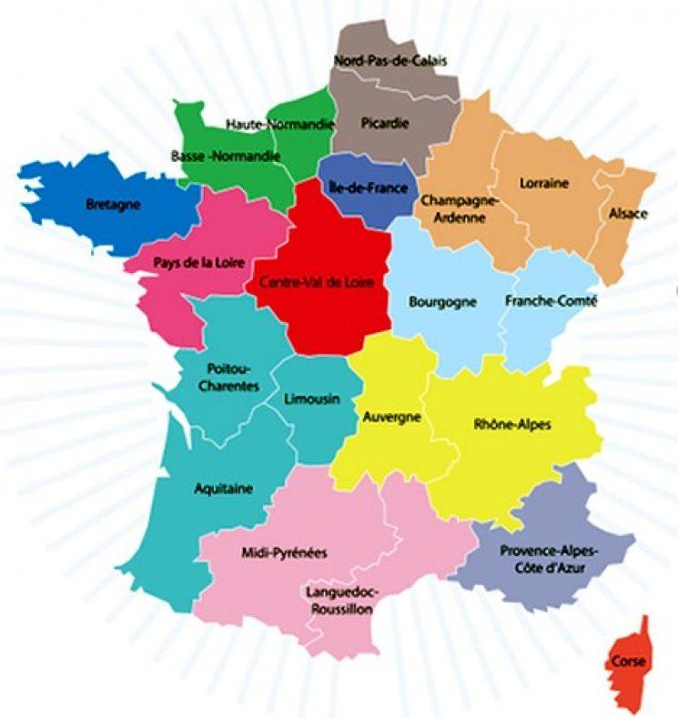Frankrijk halveert het aantal regio's