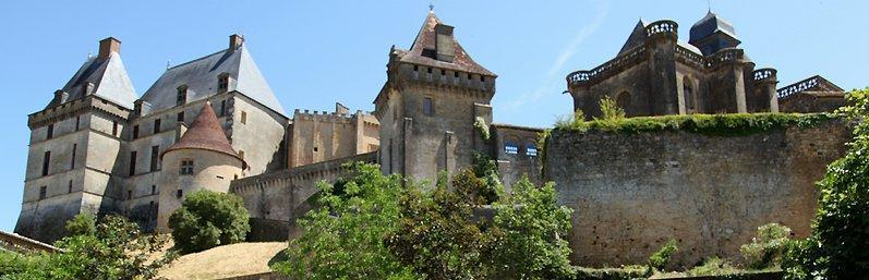 Château de Biron bij Monpazier in Dordogne Périgord.