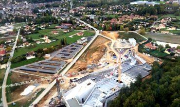 Lascaux IV (4) in aanbouw: het nieuwe experience center ligt even buiten Montignac.