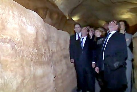 Dordogne Périgord - Lascaux 4 Centre International de l'Art Pariétal Montignac-Lascaux - International Center for Cave Art' - president Hollande