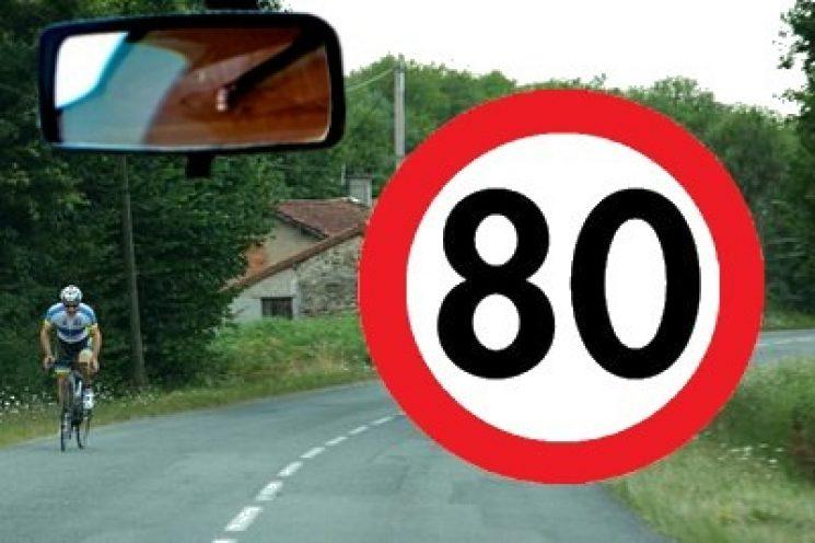 Let op: maximaal 80 km op Franse buitenwegen